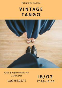 Посмотреть афишу: Вінтажне танго. Iнтенсив-курс