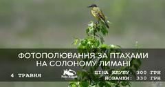 Посмотреть афишу: Фотополювання за птахами у Солоному лимані