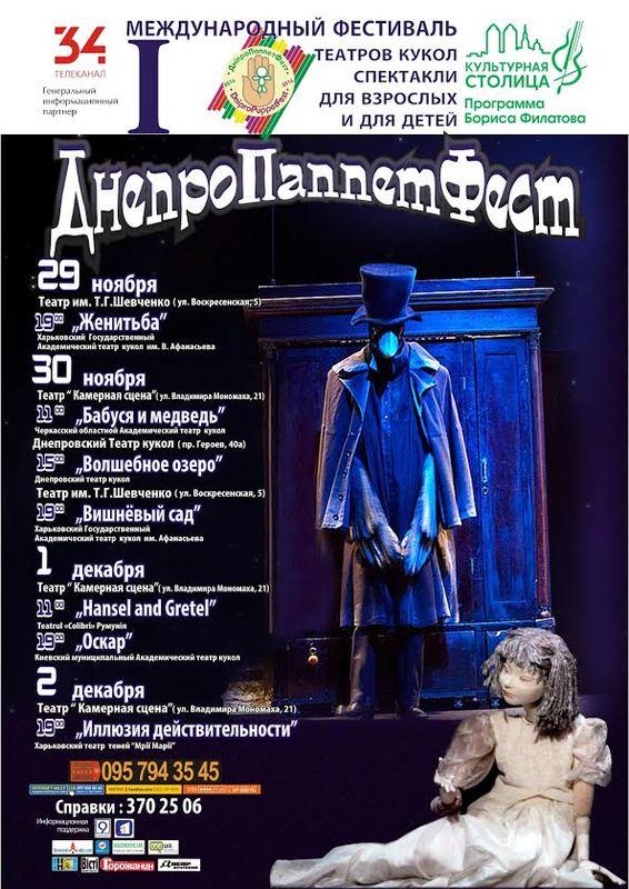 Dnipro Puppet Fest, фестиваль театров кукол