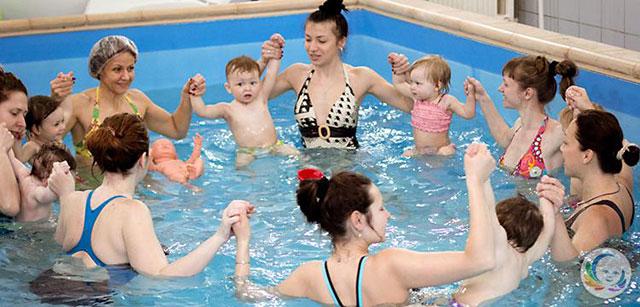 Занятия в бассейне для детей от 3 месяцев до 3,5 лет