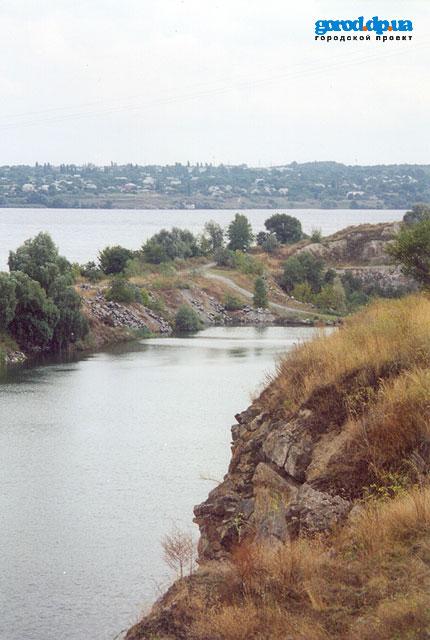 Карьер на месте бывшей крепости Кодак. Район пос. Старые Кодаки