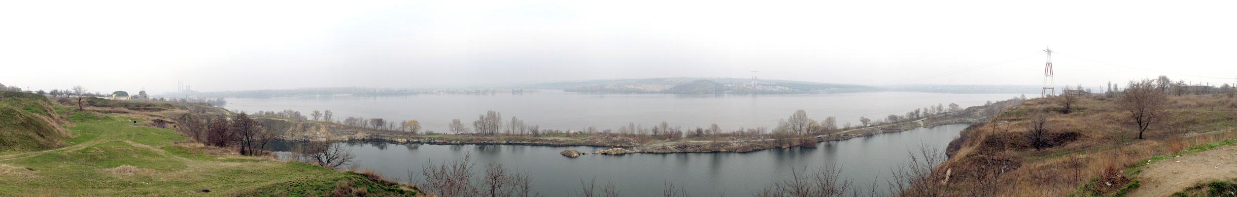 Панорама Днепра возле Старых Кодаков