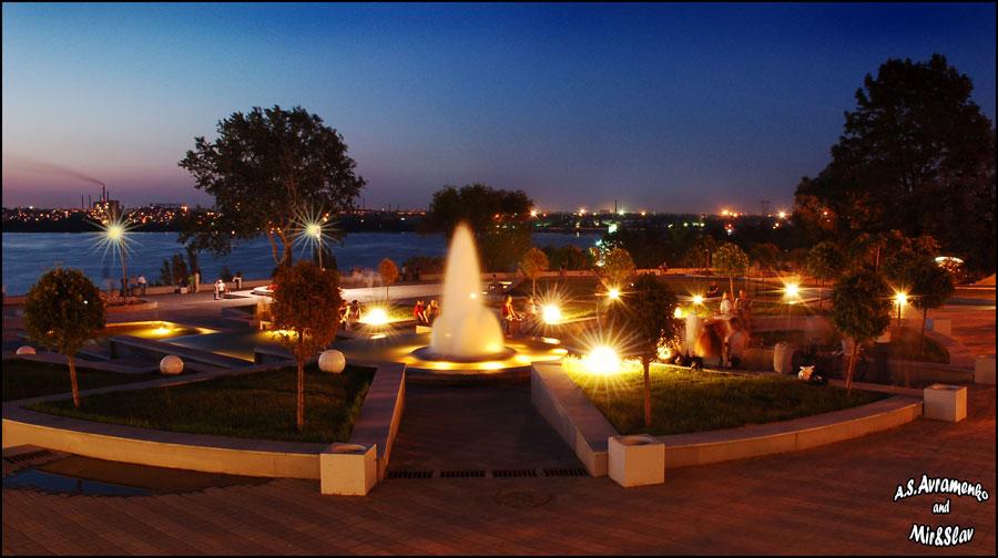 Т.Г. шевченко); Fountain on the observation platform (Taras Shevchenko Park); Фонтан на смотровой площадке (парк им...