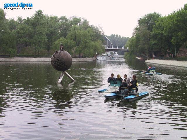 Озеро в парке Глобы