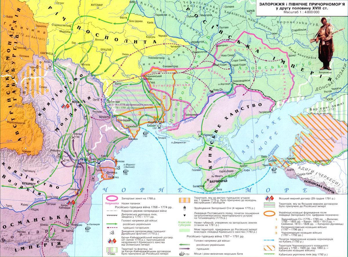 Запорожье и южное Причерноморье во вторую половину XVIII в.