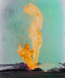 Тушение газового фонтана, село Заплавка Магдалиновского района, год 1979