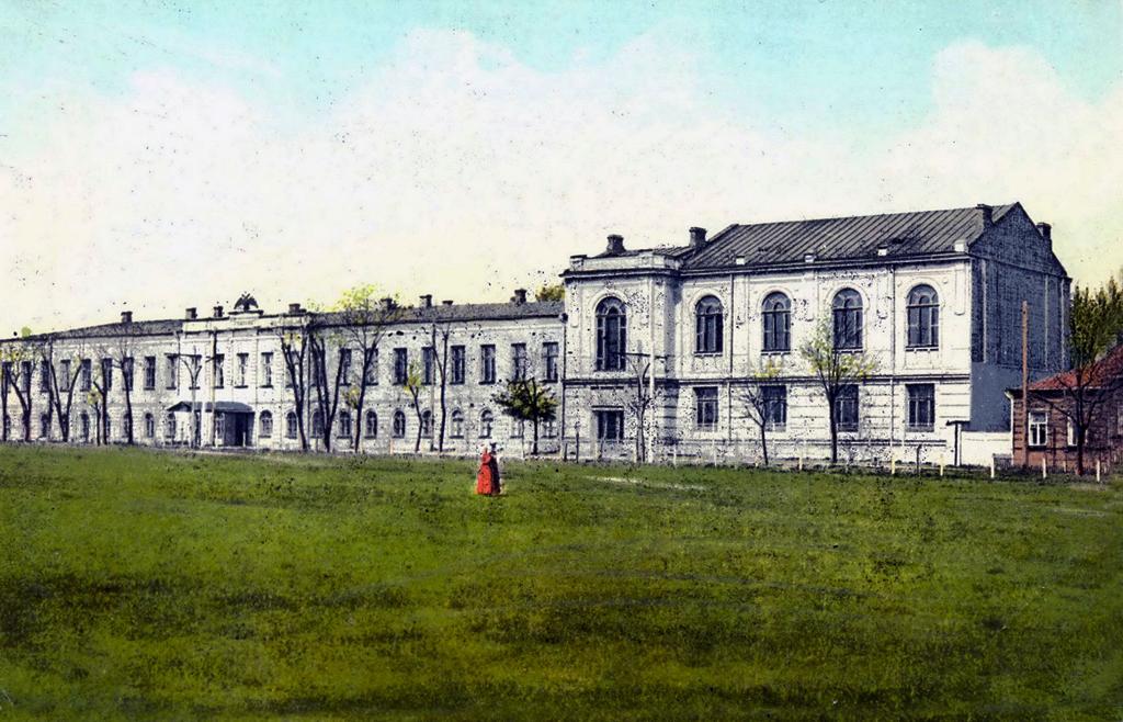 Первая классическая мужская гимназия на Соборной площади Фото с сайта dneprcity.org октябрськая