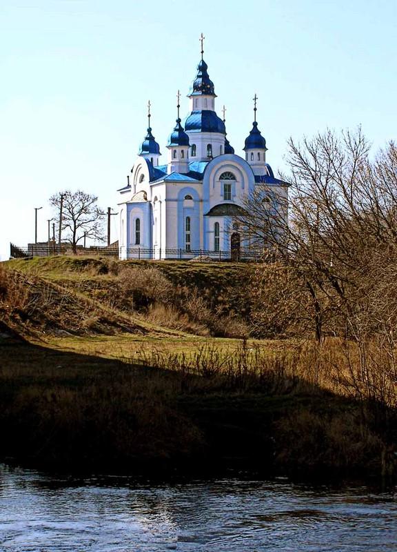 Церковь на Орели. п. Царичанка