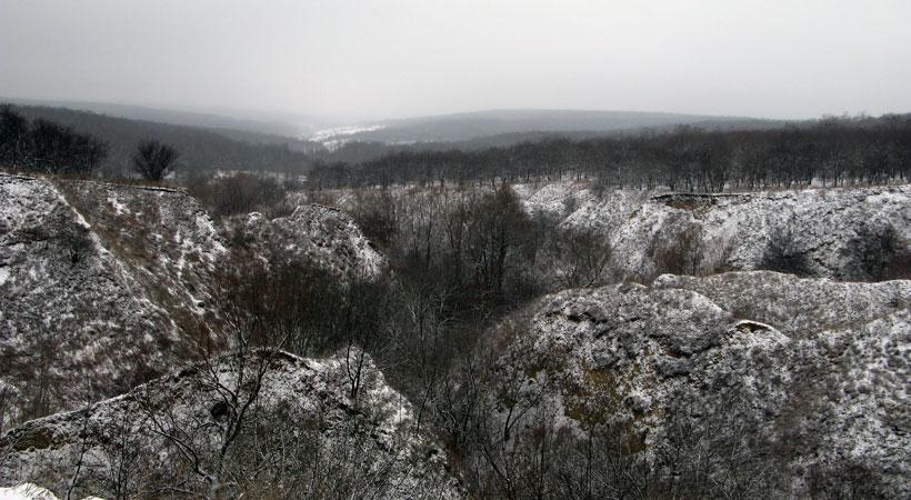 Днепровские Карпаты. Балка в Сухачевке
