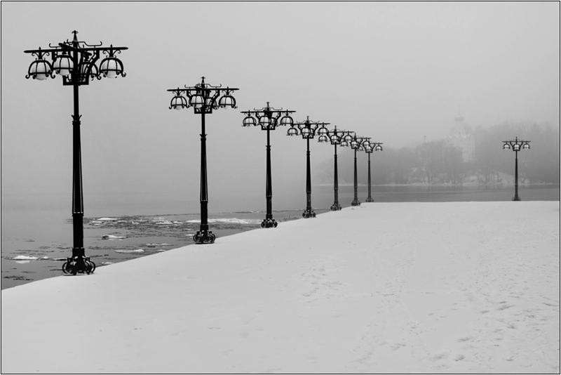 Туман и снег
