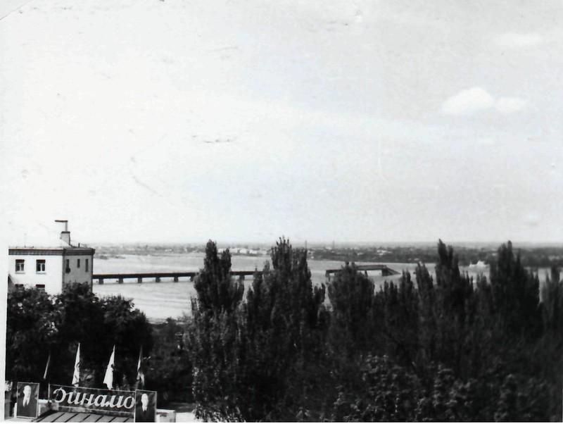 Центральный деревянный мост после пожара