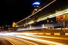 Ночное движение на Новом мосту