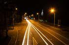 Ночное движение по набережной Ленина