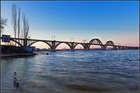 Мерефо-Херсонский мост на закате дня