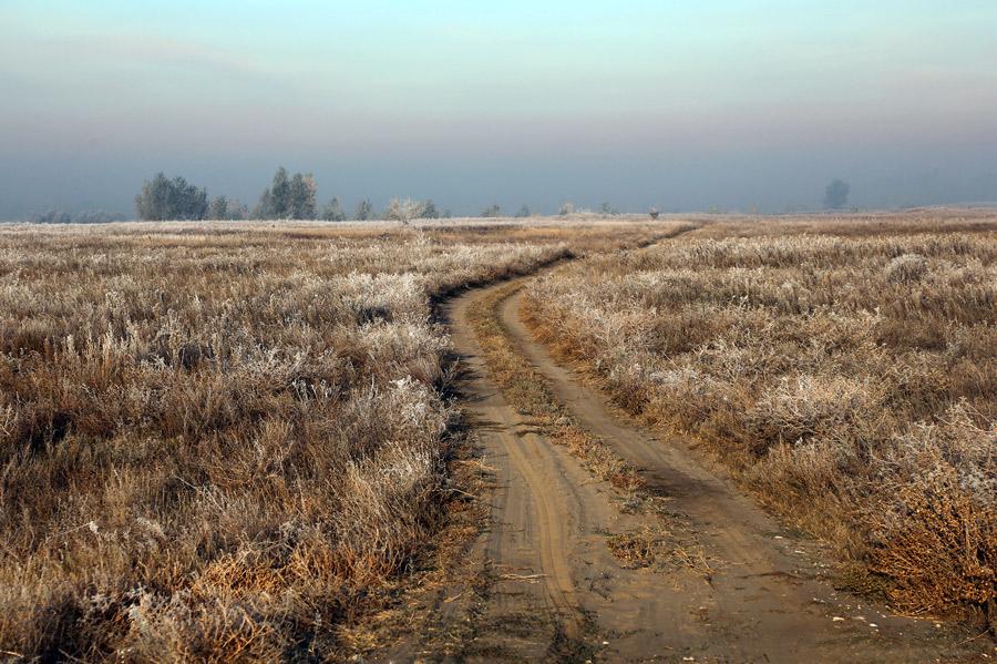 Морозное октябрьское утро