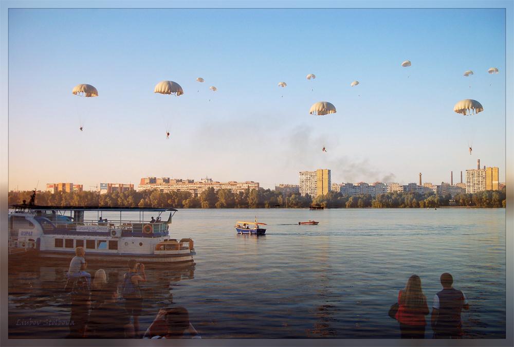 Шоу над Днепром День города,2016