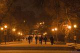 Вечерний прменад в старом парке...
