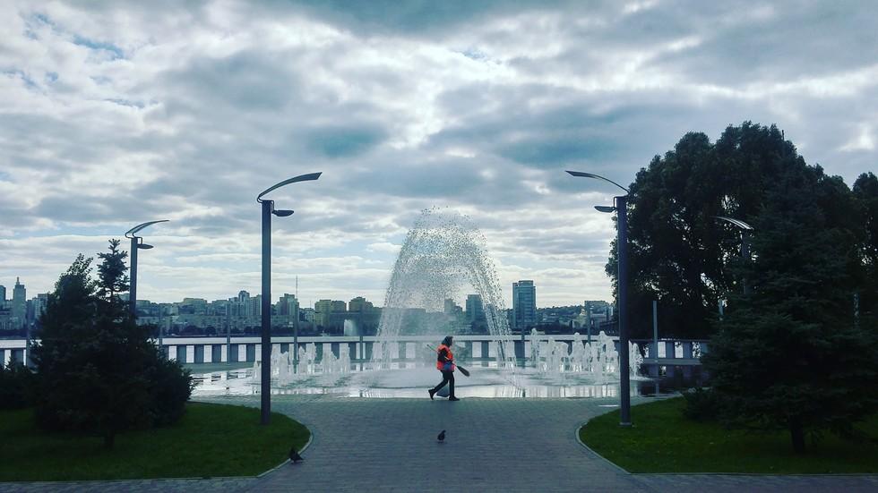 Осенний фонтан