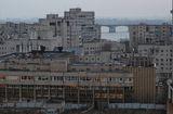 Серый городской пейзаж