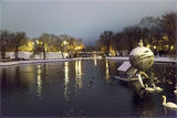 Утиное зимовье в парке Чкалова