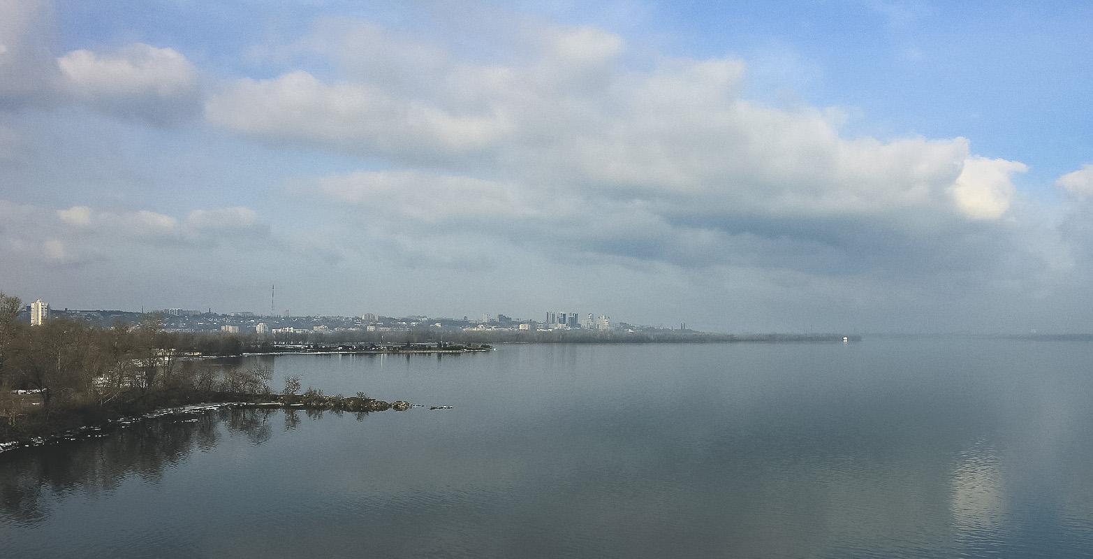 Февральские зарисовки. Панорама с Южного моста.