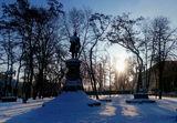 Зима, Ломоносов и метро