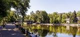 Озеро в парке Лазаря Глобы