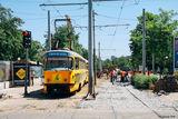 перенос трамвайных путей на проспекте Яворницкого