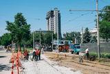 перенос трамвайных путей на пересечении ул. Фабра и просп. Яворницкого