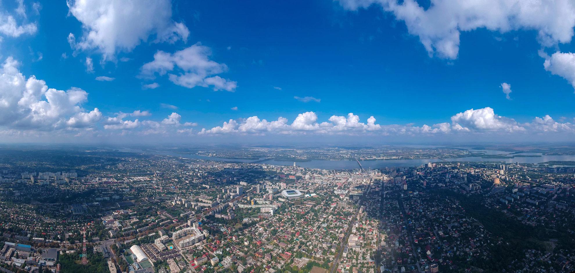 Днепр с высоты 500м