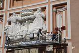 У дніпровському театрі ім. Т.Шевченка великими темпами йдуть будівельні роботи.