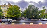 Скозь дождь и ветер в парк Шевченко