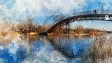 Новомосковск. Горбатый мост в парке