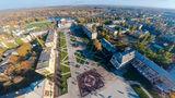 Обновленная площадь Героев и музыкальный фонтан в Новомосковске