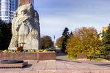 Цветы у монумента