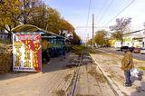 На остановке 10 трамвая, ул.Грушевского(К.Либкнехта)
