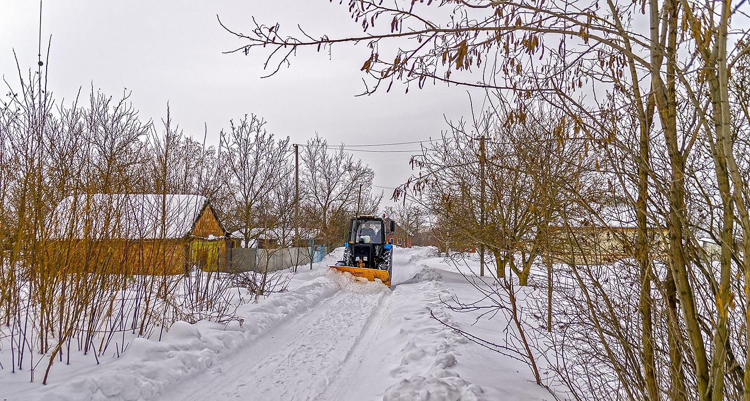 Чистим улицу Вишнёвую, с.Могилёв