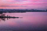 Закат в фиолетовых тонах