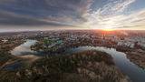 Закат над Новомосковском