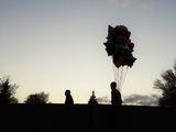 Воздушная голова в парке Глобы