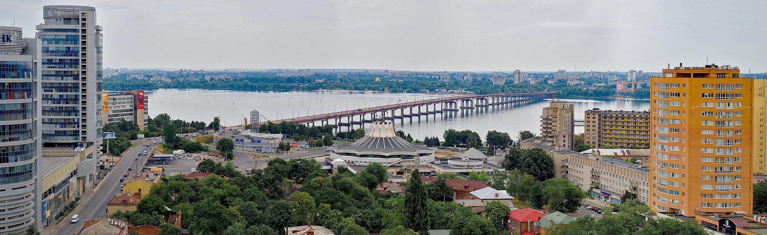 Вид на Днепр и Новый Мост