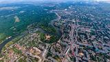 Летний Новомосковск с высоты