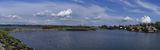 Яхт клуб. Панорама с облаками.