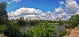 Панорама с облаками