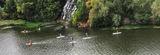 Флотилия у водопада