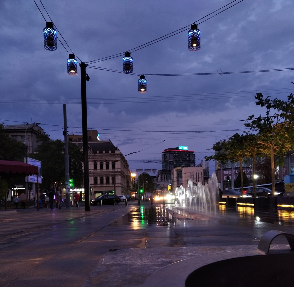 Вечерний город  короленка короленко