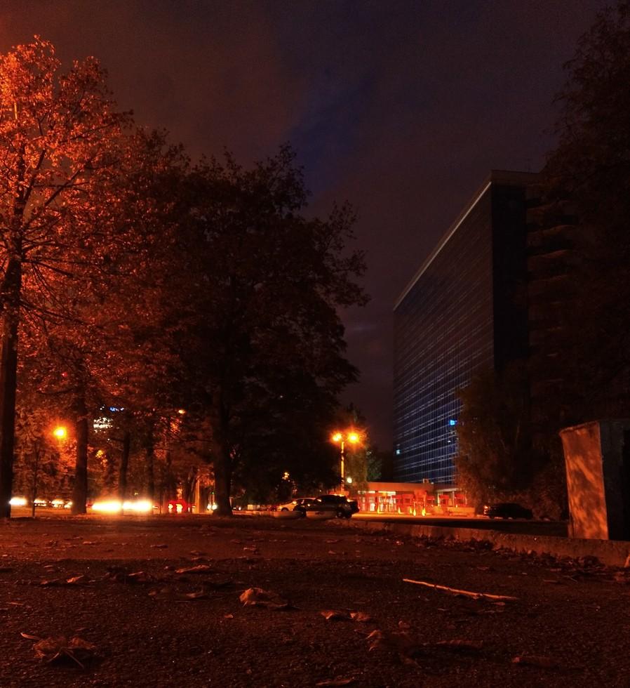 Ночной город  гагарина