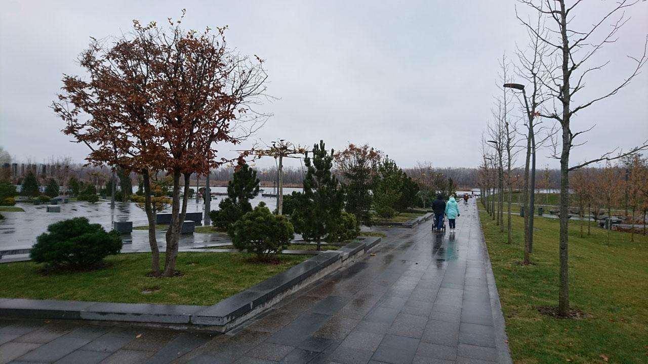 Зимний сквер на Победе