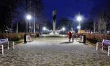 Парк вечерний на Красном Камне