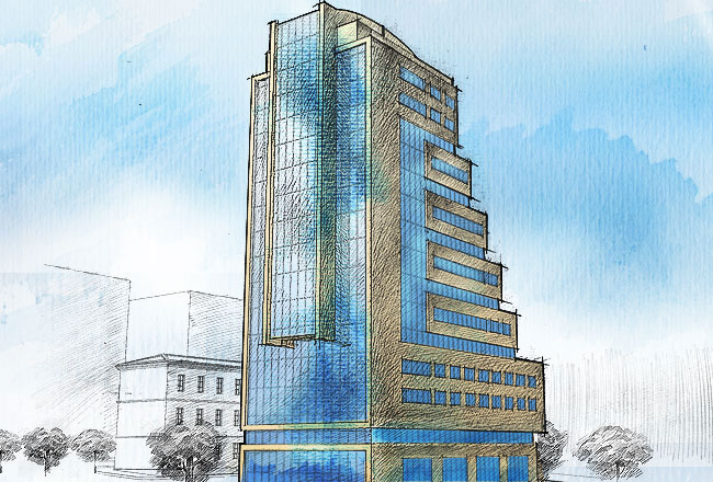 Конструктивная схема каскадного повышения этажности позволяет сохранить общую тенденцию.